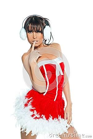 Sexy woman Santa dress