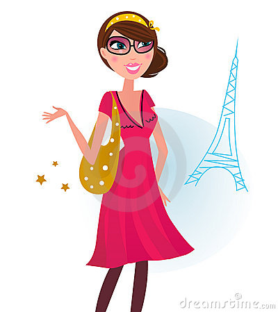 woman on shopping in Paris city