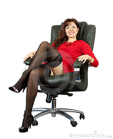 Free Sexy Woman Sitting On  Office Armchair Stock Photography - 21546142