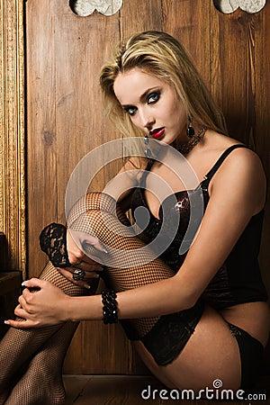 Sexy woman vamp