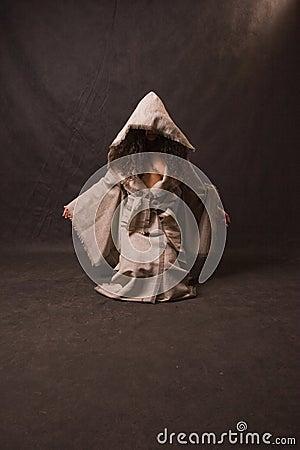 Sexy woman wearing robe