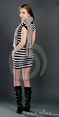 Sexy woman in winter wear