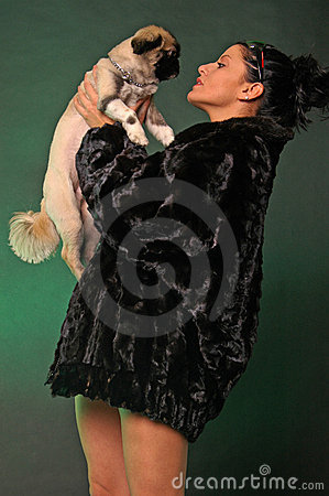 Free Sexy Woman With Dog Royalty Free Stock Photo - 1927855