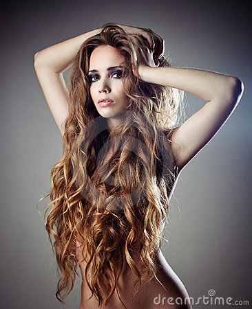 Free Sexy Woman With Long Curly Hair Royalty Free Stock Photography - 22918177