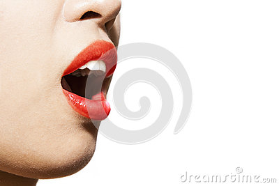 Sexy womans mouth