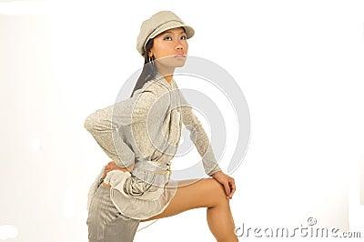 Sexy young Asian wearing a cap