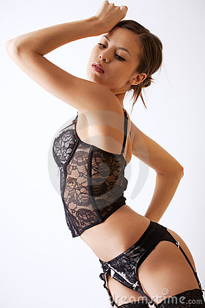 Sexy young girl in lingerie