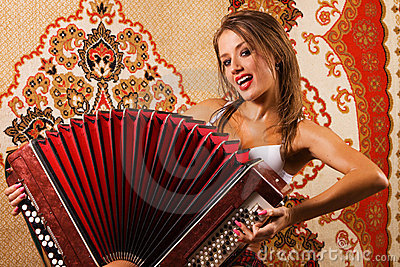 Sexy Young Woman On Asian Carpet Background Stock Images - Image: 15015044