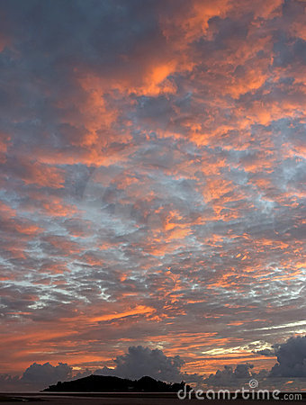 Seychelles dawn Stock Photo