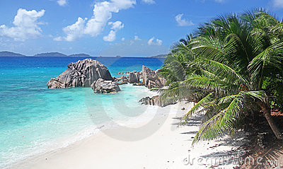 Seychelles idyllic Tropical Beach