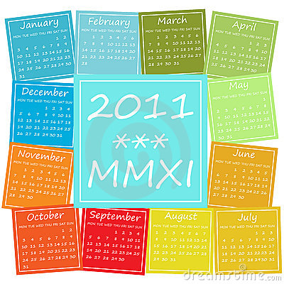 Sezonowy 2011 kalendarzowy kolor