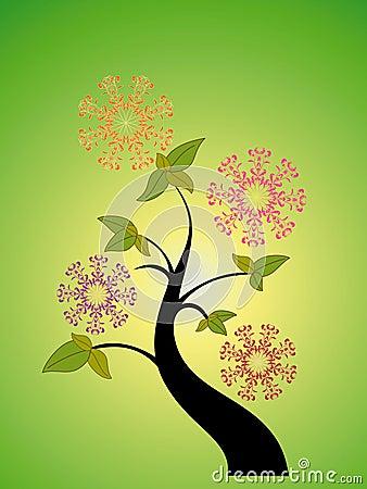 Sezonowy kwiatu drzewo