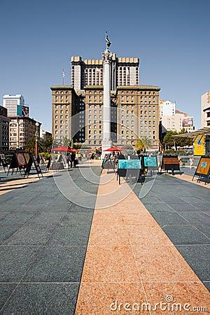 SF Union Square Art Market Editorial Stock Image