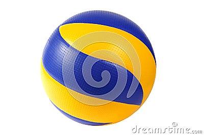 Sfera blu scuro e gialla di pallavolo