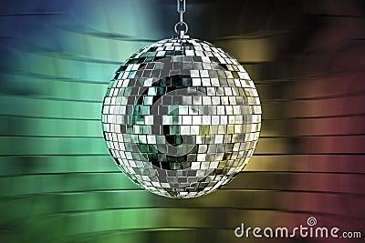 Sfera della discoteca con gli indicatori luminosi