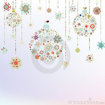 Sfere stilizzate di natale su beige fotografie stock for Immagini natale stilizzate