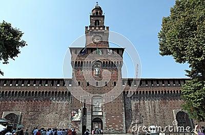 Sforza Castle Editorial Photography