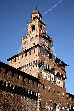 Sforza Castle in Milan, Italy