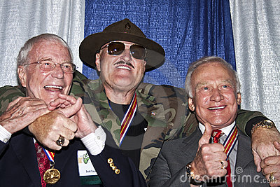 Sgt. Slaughter and Two American Astronauts Editorial Image