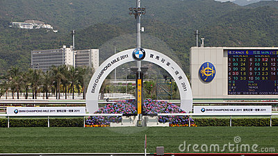 Sha Tin Racecourse : BMW Champions Mile Raceday Editorial Photo