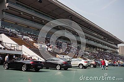 Sha Tin Racecourse : BMW Champions Mile Raceday Editorial Stock Photo