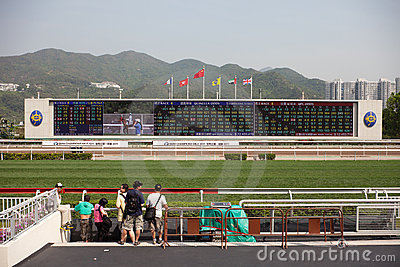Sha Tin Racecourse : BMW Champions Mile Raceday Editorial Stock Photo