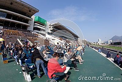 Sha Tin Racecourse, Hong Kong Editorial Stock Photo