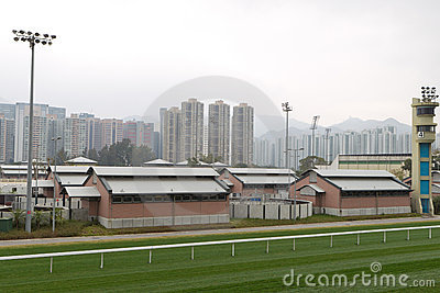 Sha Tin Racecourse, Hong Kong Editorial Photography