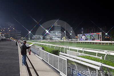 Sha Tin Racecourse, Hong Kong Editorial Image