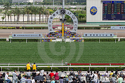 Sha Tin Racecourse : Queen Elizabeth II Cup Editorial Image