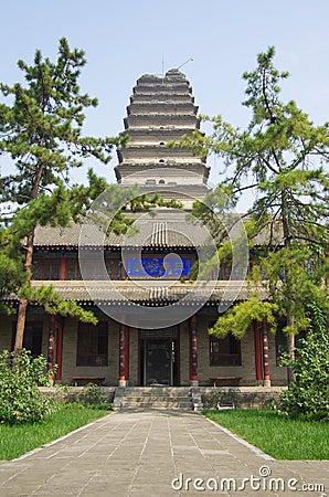 Shaanxi xi  an small wild goose pagoda