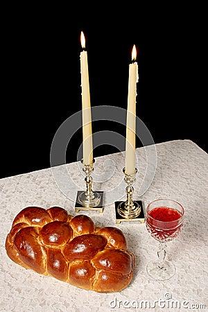 Free Shabbat Candles Lighted Royalty Free Stock Photo - 322355