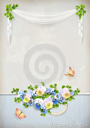 Free Shabby Chic Romantic Flower Vintage Background Stock Image - 36714561