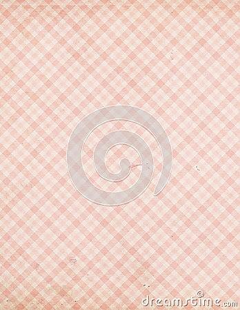 Shabby Chic vintage pink check tartan pattern