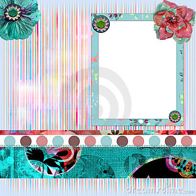 Shabby Floral Photo Frame
