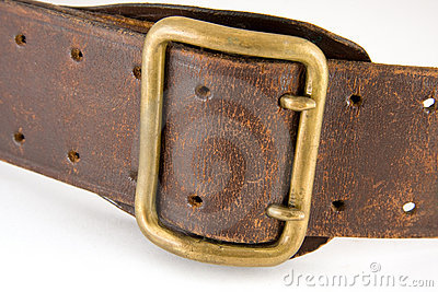 Shabby leather belt