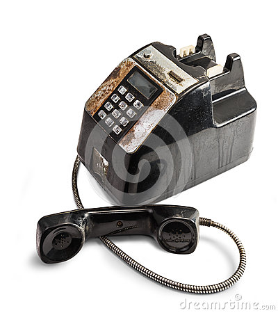 Shabby Outdated Telephone