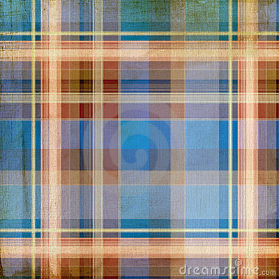 Shabby plaid background