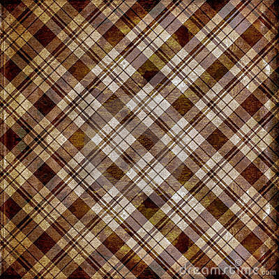 Shabby plaid in brown stripes