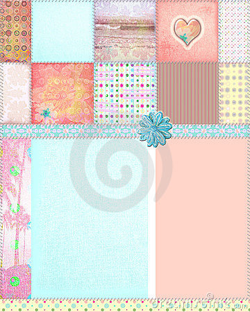 Shabby Quilt Montage Background