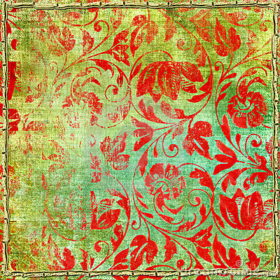 Shabby red patterns