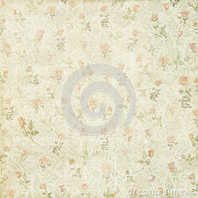 Free Shabby Vintage Floral Rose Background Royalty Free Stock Image - 43753726