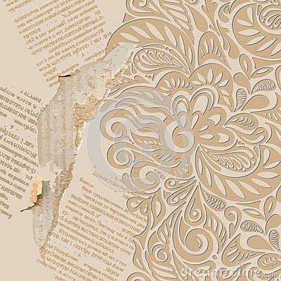 Shabby vintage wallpaper background
