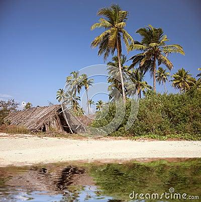 The shack on the  beach