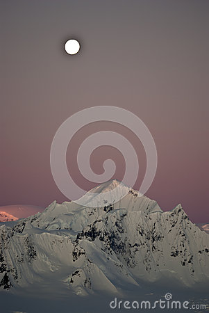 Shackleton Mountain in the west of the Antarctic Peninsula with