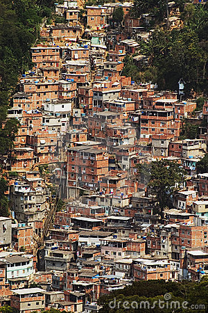Shacks in the Favellas, a poor neighborhood in Rio de Janeiro
