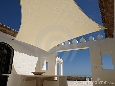 Shade sail in Morocco