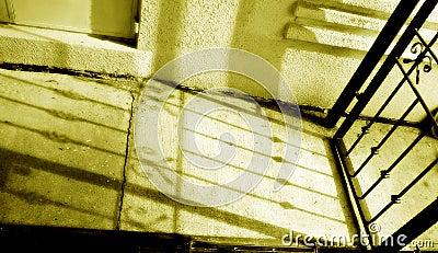 Shadow of antique gate, nostalgia monochrome