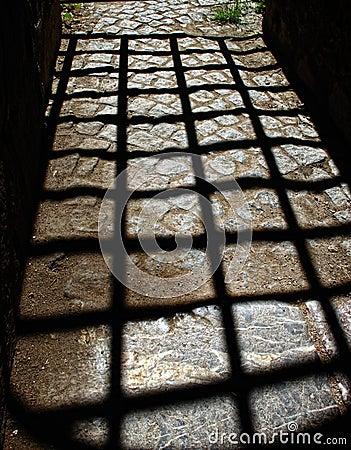 Shadow of bars