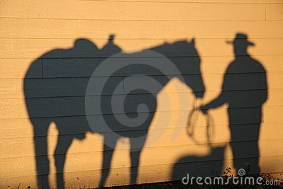 Shadow With Dog and Horse